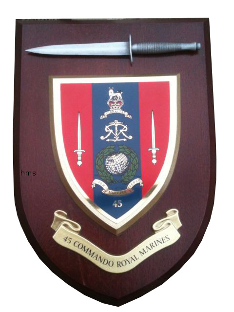 45 Commando Royal Marines With Pewter Dagger Military Wall