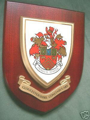 Gloucestershire Police Service Wall Plaque Shield