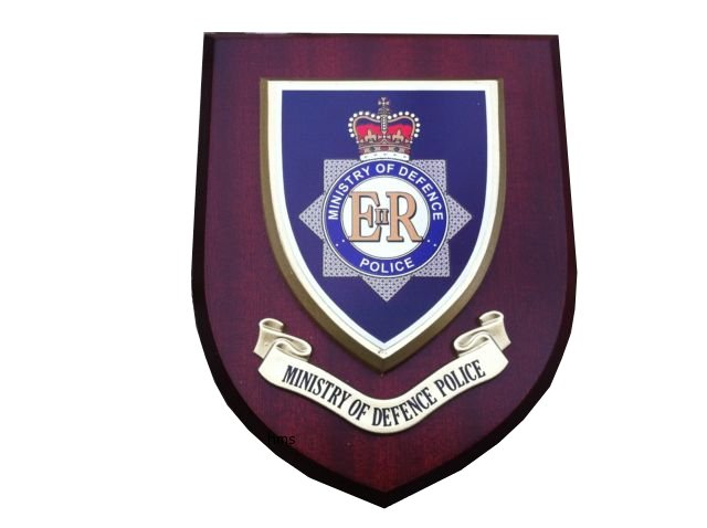 MOD Ministry of Defence Police Service Wall Plaque Shield