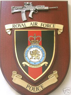 Raf Royal Air Force Police With Pewter Sa80 Regimental