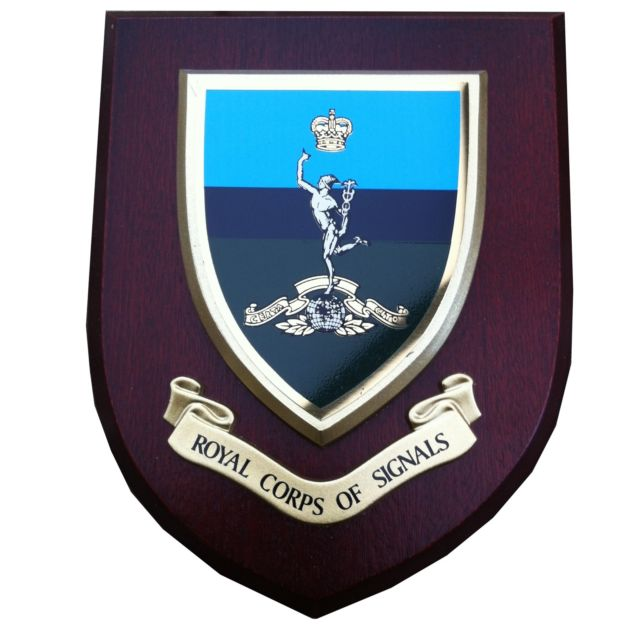 Royal Corps Of Signals Regimental Army Wall Plaque