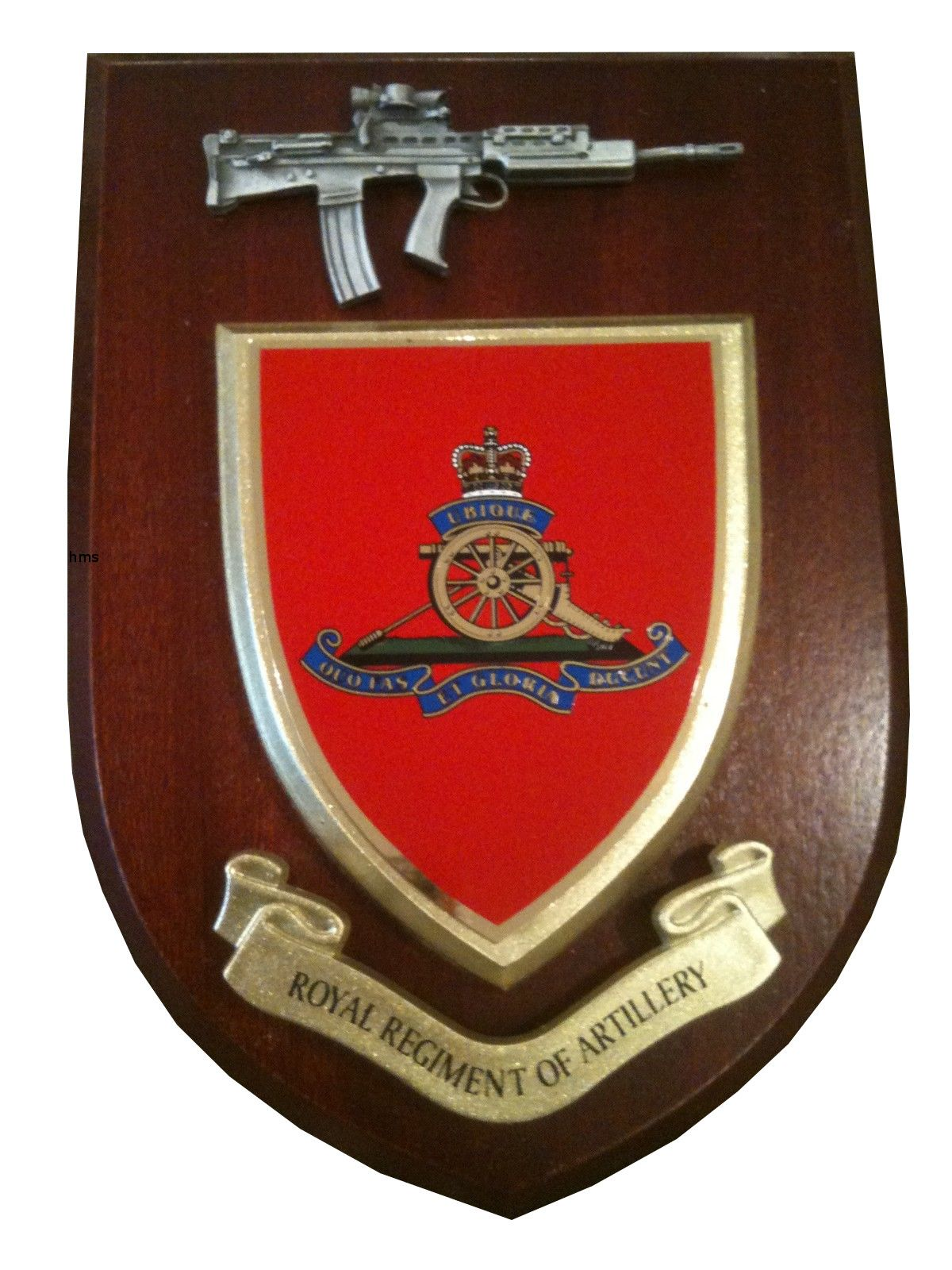 Royal Regiment Of Artillery With Pewter Sa80 Military Wall