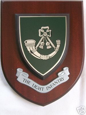 The Light Infantry Regimental Military Wall Plaque Shield