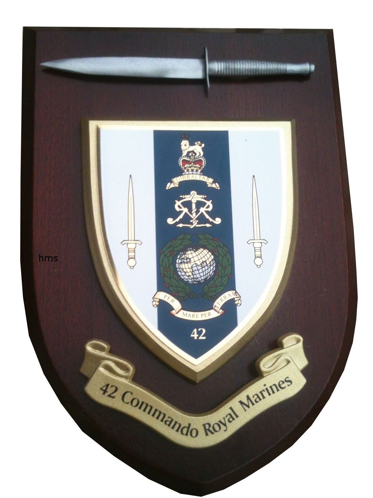42 Commando Royal Marines Military Wall Plaque And Pewter
