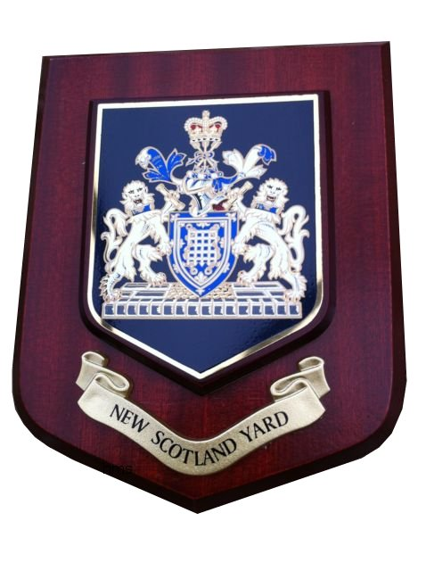 metropolitan police force new scotland yard shield wall plaque