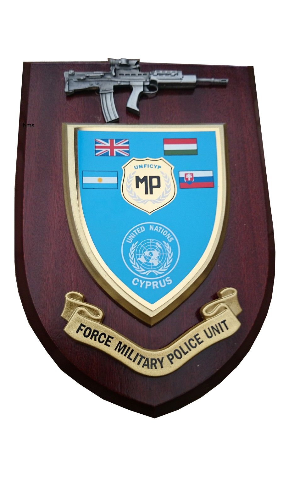 Military Police Force Unit Cyprus United Nations Wall Plaque + Pewter SA80