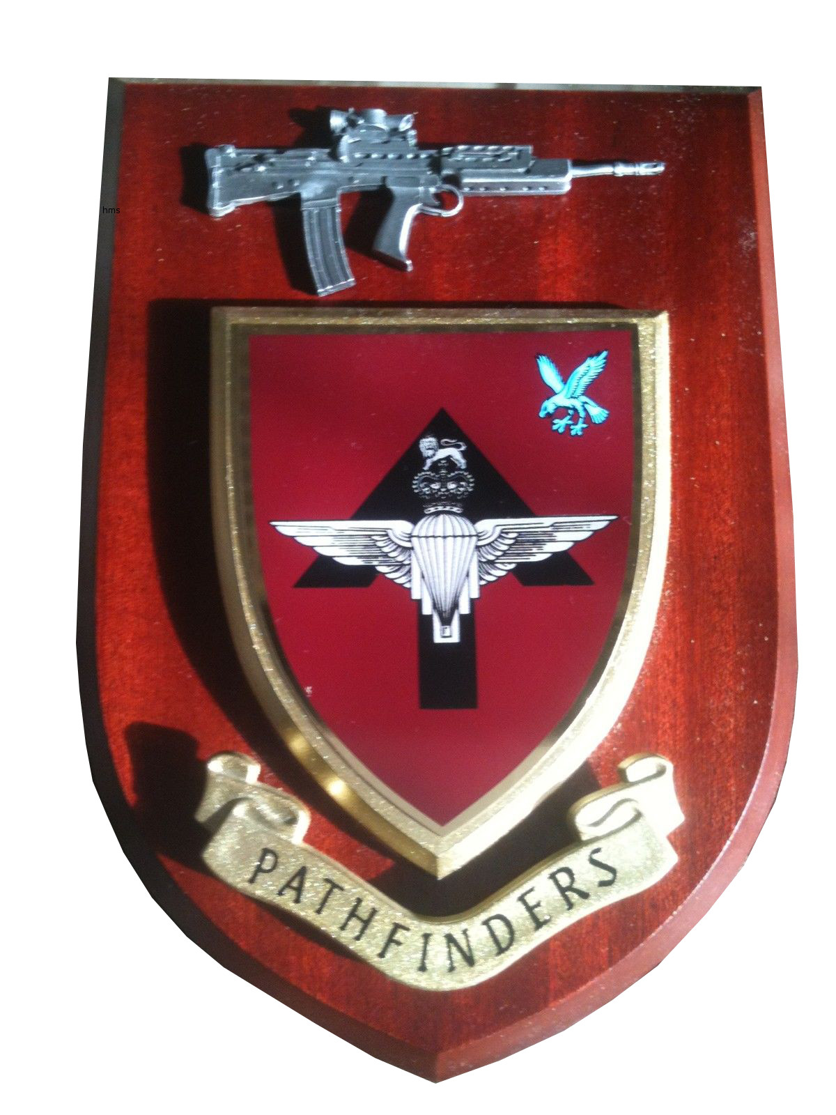 Pathfinders New Style Regiment Military Wall Plaque Pewter