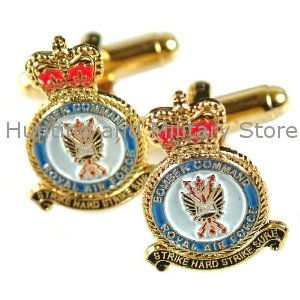 RAF Bomber Command Royal Air Force Regimental Military Cufflinks