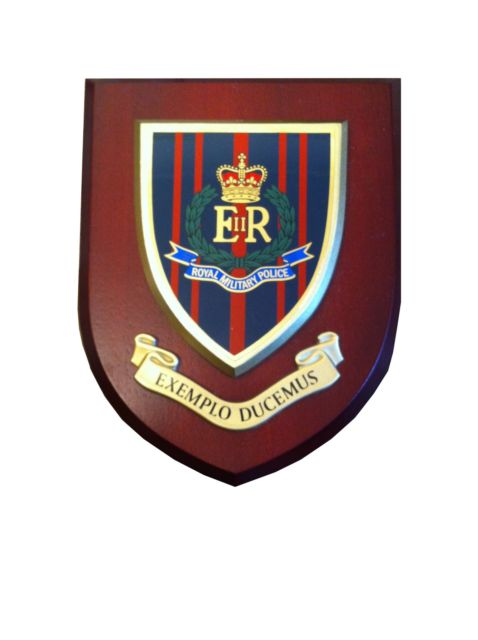 Rmp Royal Military Police Exemplo Ducemus Wall Plaque Shield